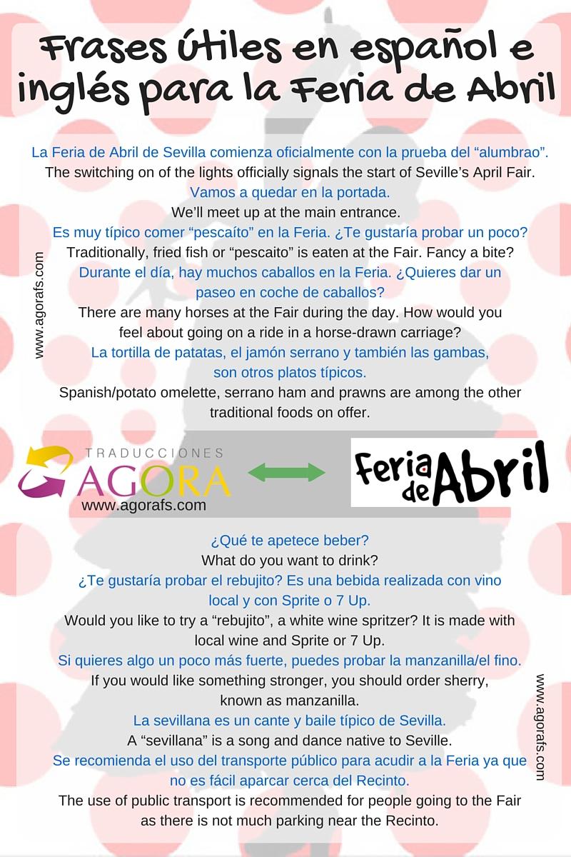 glosario español inglés Feria de Abril
