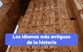 Los idiomas más antiguos de la historia