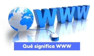 qué significa WWW