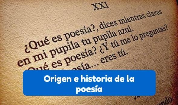 reseña histórica de la poesía